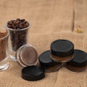 Chocolate lip balm product concept image