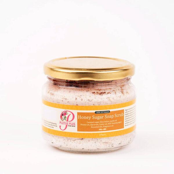 Honey sugar soap scrub product image 1