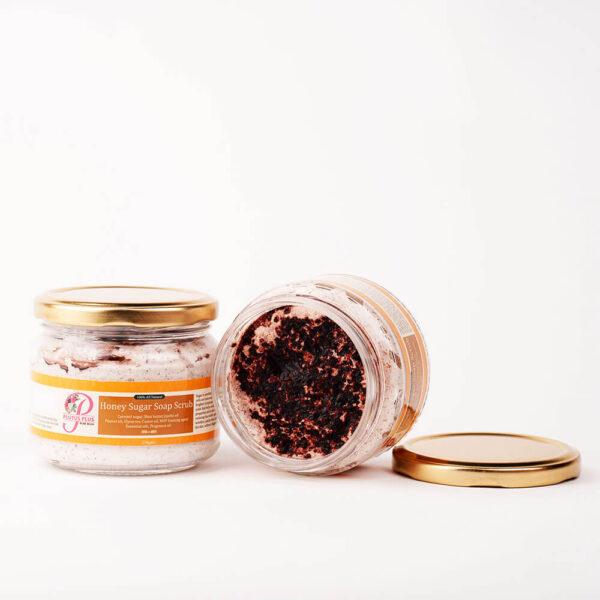 Honey sugar soap scrub product image 2