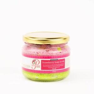 Strawberry soap scrub product image 1